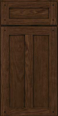 Square Recessed Panel - Veneer (TMKO) Oak in Saddle Suede - Base