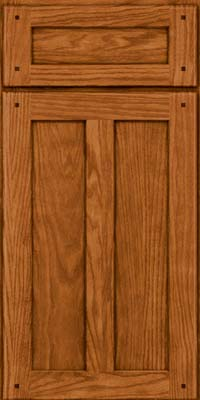 Square Recessed Panel - Veneer (MKO) Oak in Toffee - Base