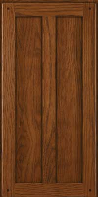 Square Recessed Panel - Veneer (MKH) Hickory in Cognac - Wall