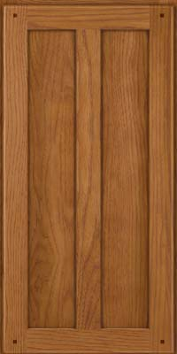 Square Recessed Panel - Veneer (MKH) Hickory in Golden Lager - Wall