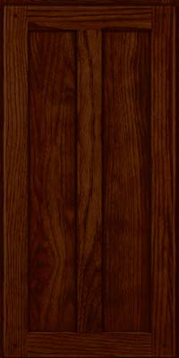 Square Recessed Panel - Veneer (MKH) Hickory in Kaffe - Wall