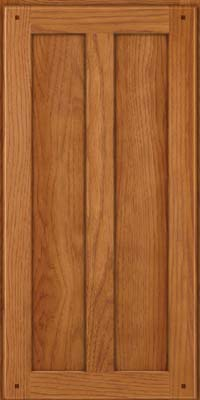 Square Recessed Panel - Veneer (MKH) Hickory in Praline - Wall