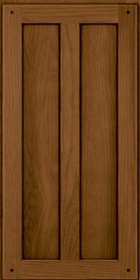 Square Recessed Panel - Veneer (MKH) Hickory in Rye w/Sable Glaze - Wall