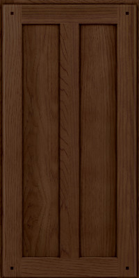 Square Recessed Panel - Veneer (MKH) Hickory in Saddle - Wall