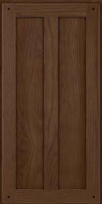 Square Recessed Panel - Veneer (MKH) Hickory in Saddle Suede - Wall