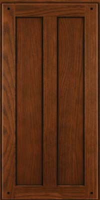 Square Recessed Panel - Veneer (MKO) Oak in Autumn Blush w/Onyx Glaze - Wall