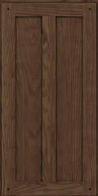 Square Recessed Panel - Veneer (TMKO1) Oak in Hazel - Wall