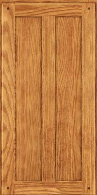Square Recessed Panel - Veneer (MKO) Oak in Honey Spice - Wall