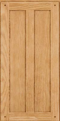 Square Recessed Panel - Veneer (MKO) Oak in Natural - Wall