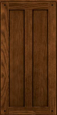 Square Recessed Panel - Veneer (MKO) Oak in Rye w/Onyx Glaze - Wall