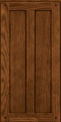Square Recessed Panel - Veneer (MKO) Oak in Rye w/Sable Glaze - Wall