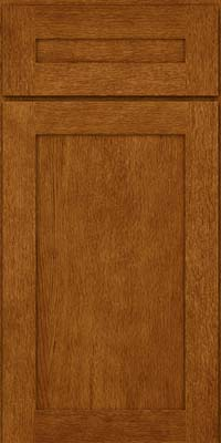 Square Recessed Panel - Veneer (MRO) Oak in Golden Lager - Base