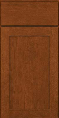 Square Recessed Panel - Veneer (MRO) Quartersawn Oak in Autumn Blush - Base