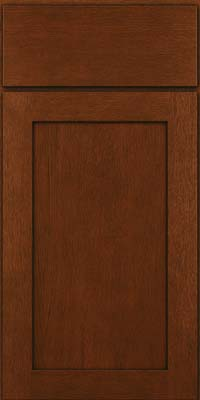 Square Recessed Panel - Veneer (MRO) Quartersawn Oak in Autumn Blush w/Onyx Glaze - Base