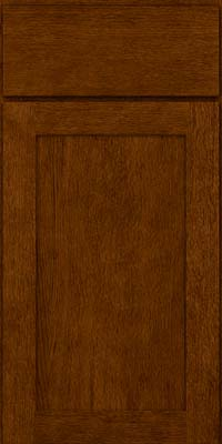 Square Recessed Panel - Veneer (MRO) Quartersawn Oak in Cognac - Base
