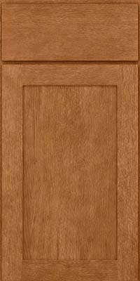 Square Recessed Panel - Veneer (MRO) Quartersawn Oak in Fawn - Base