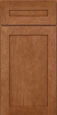 Square Recessed Panel - Veneer (MRO) Quartersawn Oak in Ginger w/Sable Glaze - Base