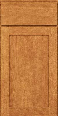 Square Recessed Panel - Veneer (MRO) Quartersawn Oak in Honey Spice - Base
