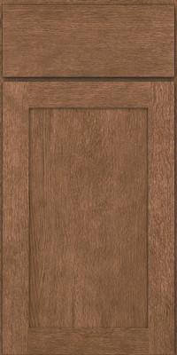 Square Recessed Panel - Veneer (MRO) Quartersawn Oak in Husk - Base