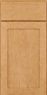 Square Recessed Panel - Veneer (MRO) Quartersawn Oak in Natural - Base