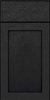 Square Recessed Panel - Veneer (MRO) Quartersawn Oak in Onyx - Base
