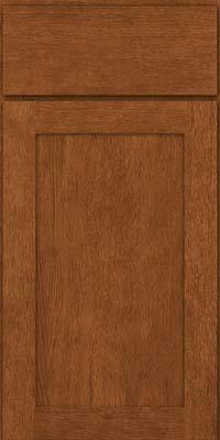 Square Recessed Panel - Veneer (MRO) Quartersawn Oak in Rye - Base