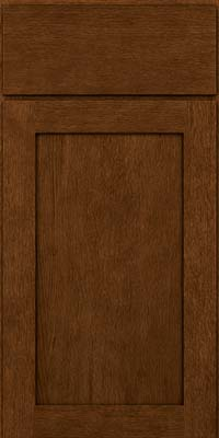 Square Recessed Panel - Veneer (MRO) Quartersawn Oak in Rye w/Onyx Glaze - Base