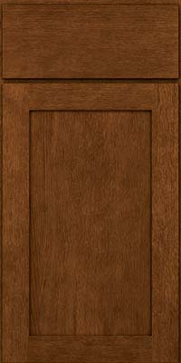 Square Recessed Panel - Veneer (MRO) Quartersawn Oak in Rye w/Sable Glaze - Base