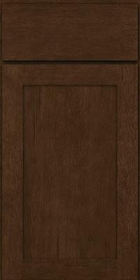 Square Recessed Panel - Veneer (MRO) Quartersawn Oak in Saddle - Base