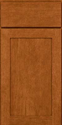 Square Recessed Panel - Veneer (MRO) Quartersawn Oak in Toffee - Base