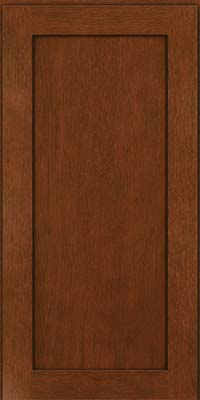 Square Recessed Panel - Veneer (MRO) Quartersawn Oak in Autumn Blush w/Onyx Glaze - Wall