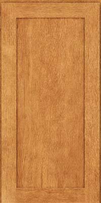 Square Recessed Panel - Veneer (MRO) Quartersawn Oak in Honey Spice - Wall