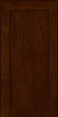 Square Recessed Panel - Veneer (MRO) Quartersawn Oak in Kaffe - Wall