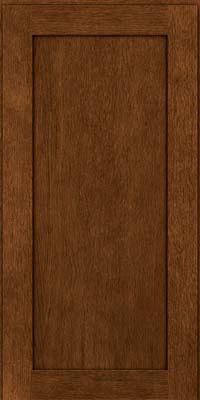 Square Recessed Panel - Veneer (MRO) Quartersawn Oak in Rye w/Onyx Glaze - Wall