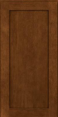 Square Recessed Panel - Veneer (MRO) Quartersawn Oak in Rye w/Onyx Glaze - Wall