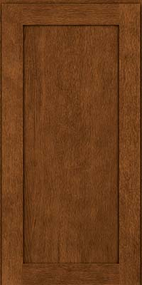 Square Recessed Panel - Veneer (MRO) Quartersawn Oak in Rye w/Sable Glaze - Wall
