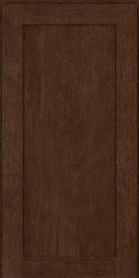 Square Recessed Panel - Veneer (MRO) Quartersawn Oak in Saddle - Wall