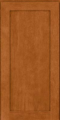 Square Recessed Panel - Veneer (MRO) Quartersawn Oak in Toffee - Wall
