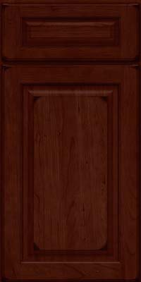 Square Raised Panel - Solid (MTC) Cherry in Burnished Cabernet - Base