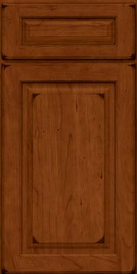 Square Raised Panel - Solid (MTC) Cherry in Burnished Cinnamon - Base