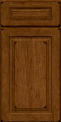 Square Raised Panel - Solid (MTC) Cherry in Burnished Ginger - Base