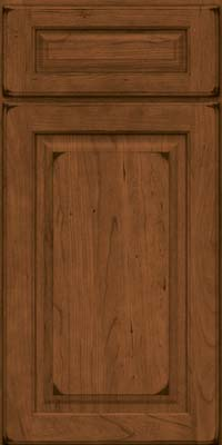 Square Raised Panel - Solid (MTC) Cherry in Burnished Rye - Base