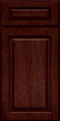 Arch Raised Panel - Solid (PWC) Cherry in Cabernet - Base