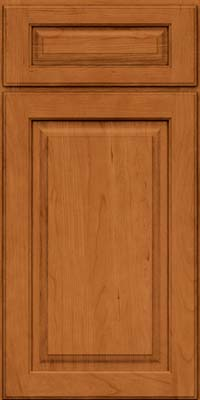 Square Raised Panel - Solid (MTC) Cherry in Honey Spice - Base