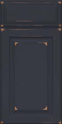 Square Raised Panel - Solid (MTC) Cherry in Vintage Midnight - Base