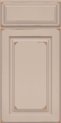 Square Raised Panel - Solid (MTC1) Cherry in Vintage Chai - Base