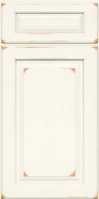 Square Raised Panel - Solid (MTC) Cherry in Vintage Dove White - Base