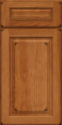 Arch Raised Panel - Solid (PWH) Hickory in Burnished Praline - Base