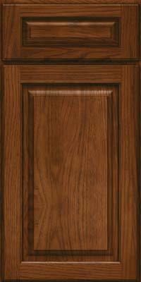 Arch Raised Panel - Solid (PWH) Hickory in Cognac - Base