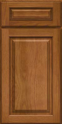 Arch Raised Panel - Solid (PWH) Hickory in Golden Lager - Base